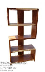 Rak Buku Minimalis kayu Trembesi