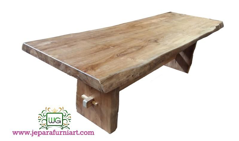 meja makan papanan kayu jati