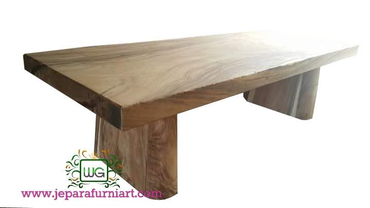 Meja makan Blok Kayu Trembesi Minimalis