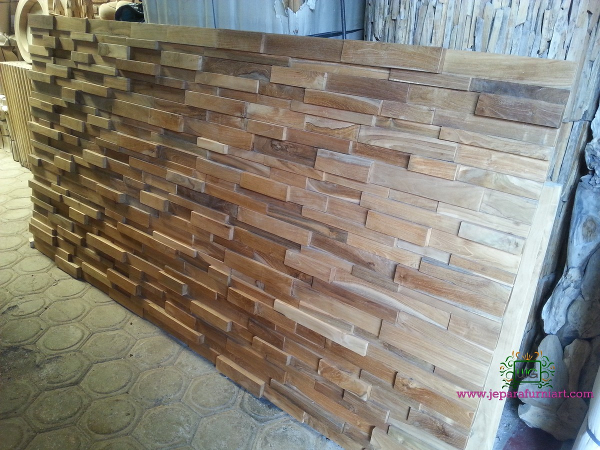 Dinding dekorasi kayu 3D