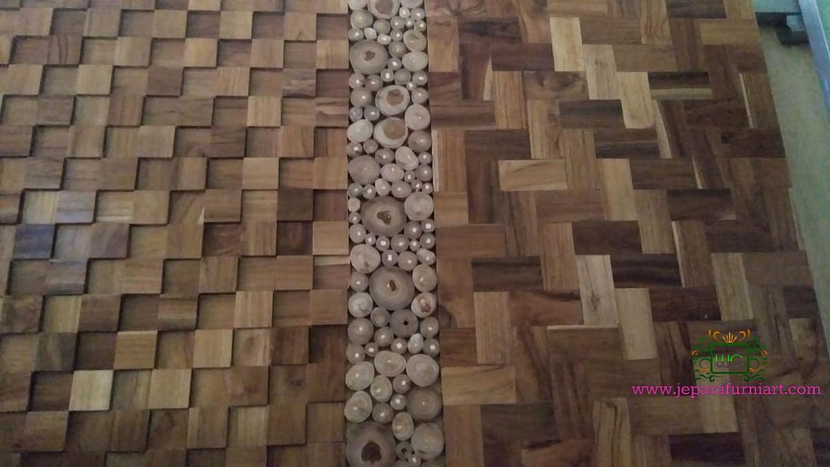 Dinding dekorasi kayu