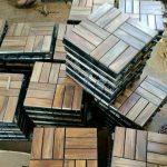 Lantai Kayu Jati (Parket Flooring)