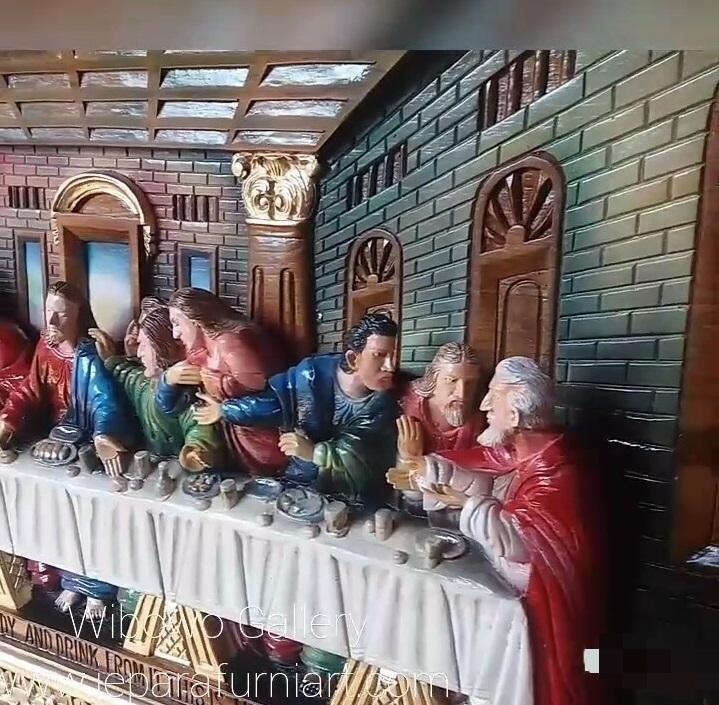 Relief Perjamuan Akhir Ukiran
