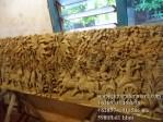 Ukiran Relief Karno Tanding kayu Jati