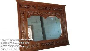 Pigura Cermin Antik Full Ukiran Jati