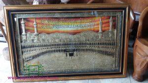 Kaligrafi Ka'bah Bahan Kuningan